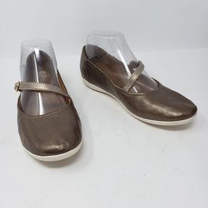 Clarks Collection Gold Metallic Mary Jane Shoes
